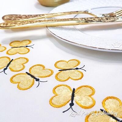 Бабочки для бордюра дизайн для машинной вышивки