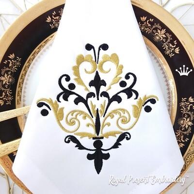 Классический декоративный элемент Дизайн машинной вышивки