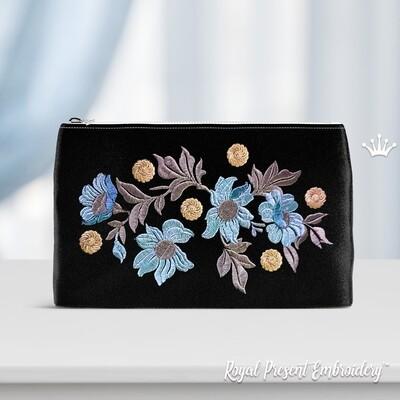 Цветы Бесплатный Дизайн машинной вышивки - 2 размера