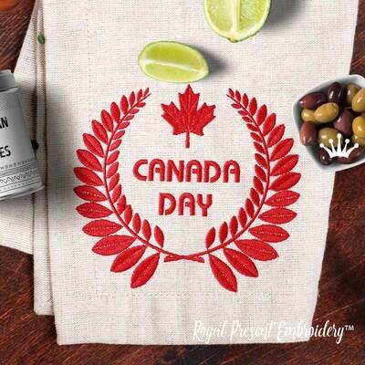 День Канады дизайн машинной вышивки - 4 размера