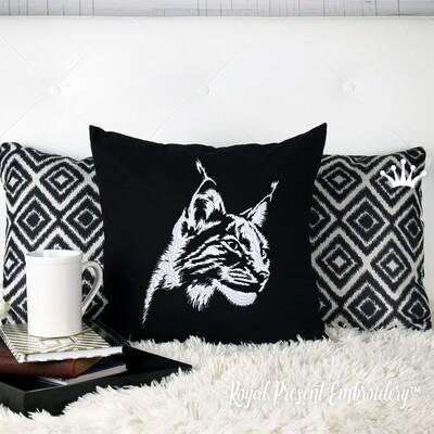 Голова Рыси Дизайн машинной вышивки - 5 размеров