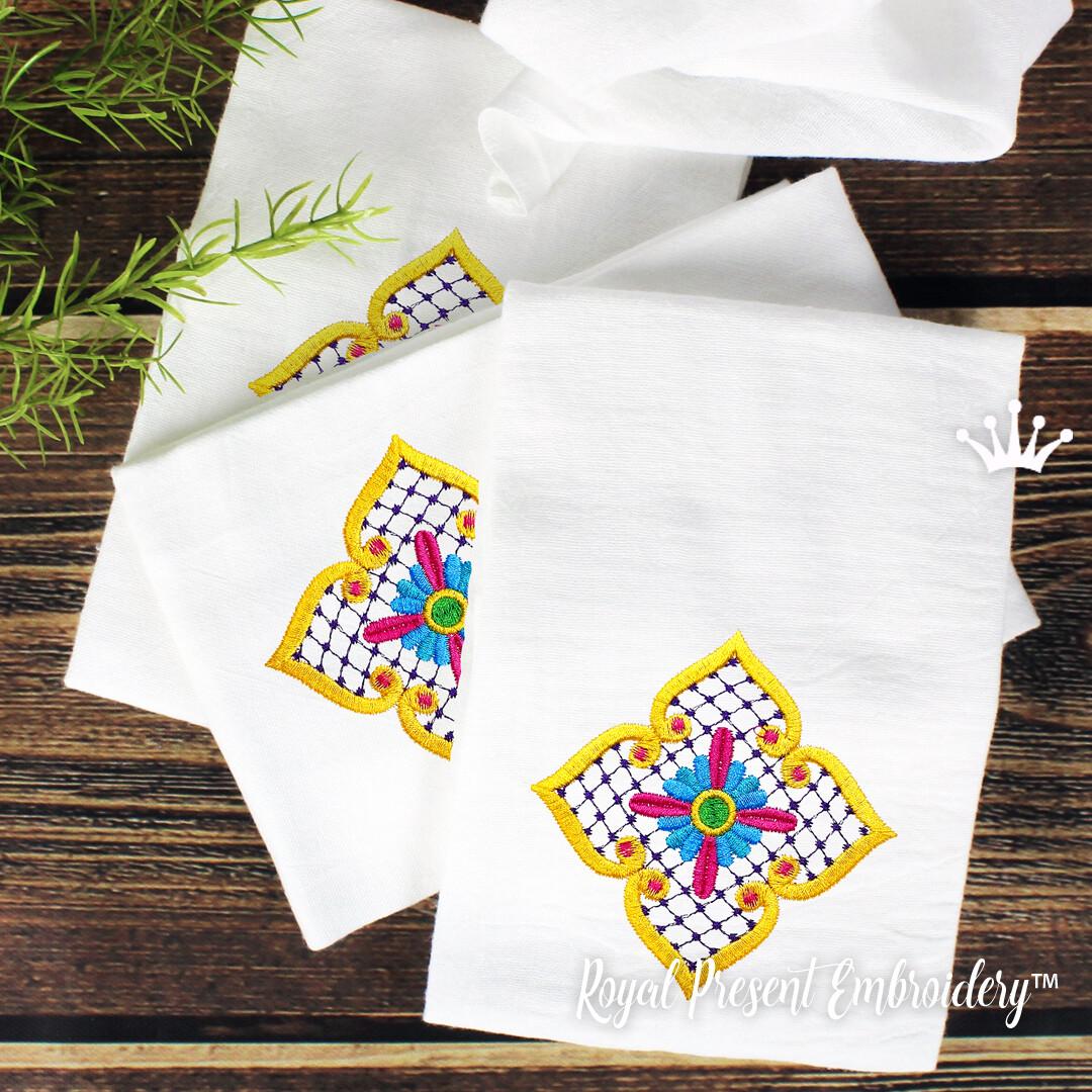 Декор в мексиканском стиле Дизайн машинной вышивки