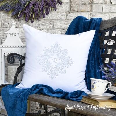 Винтажный декор для декоративной подушки Дизайн машинной вышивки