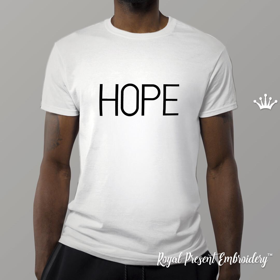 Надпись Надежда дизайн машинной вышивки