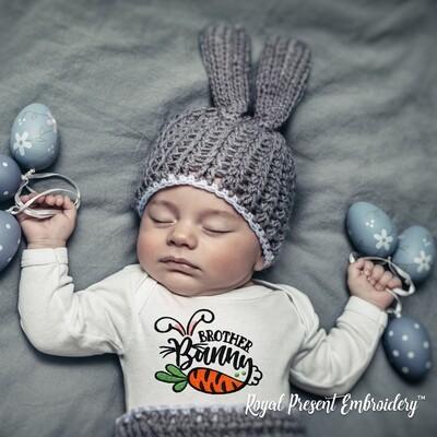 Братец Кролик Дизайн машинной вышивки - 2 размера