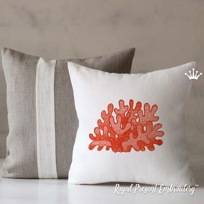 Тропические Кораллы Дизайн машинной вышивки - 6 размеров