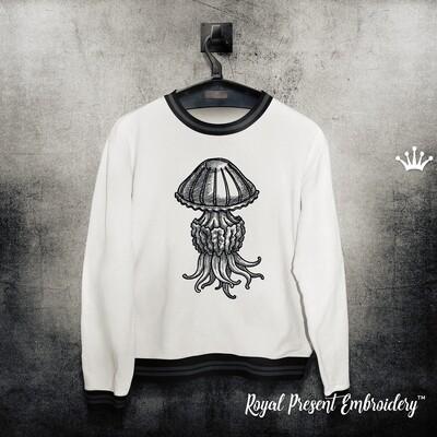 Медуза Дизайн машинной вышивки - 6 размеров