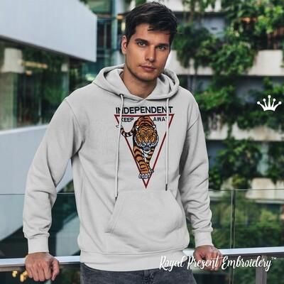 Тигр с надписью Дизайн машинной вышивки - 3 размера