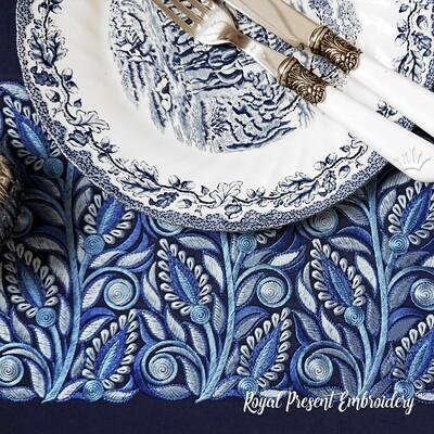 Дизайн машинной вышивки Голубая Бесконечность