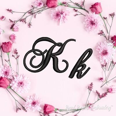 Буквы K Дизайны машинной вышивки
