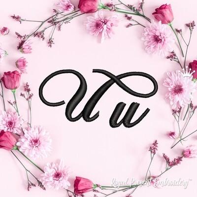 Буквы U Дизайны машинной вышивки