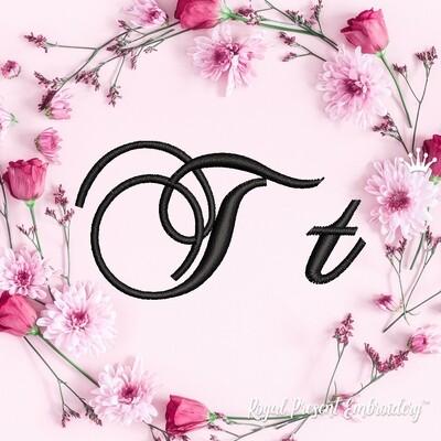 Буквы T Дизайны машинной вышивки