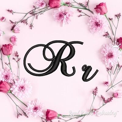 Буквы R Дизайны машинной вышивки