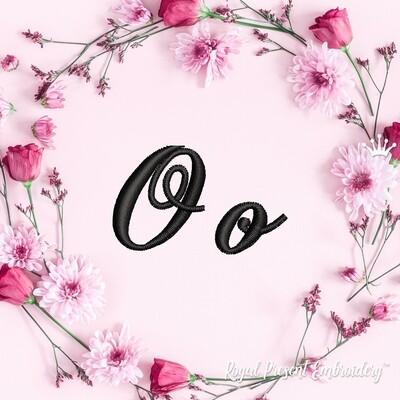 Буквы O Дизайны машинной вышивки