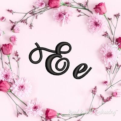 Буквы E Дизайны машинной вышивки