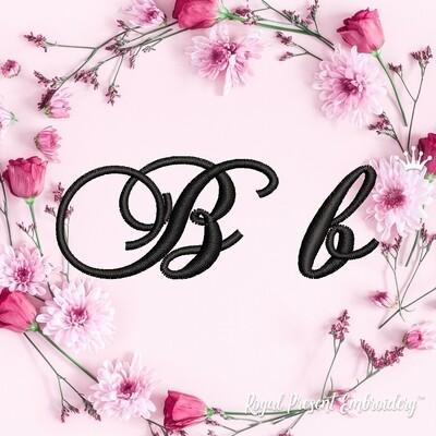 Буквы B Дизайны машинной вышивки