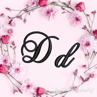 Буквы D Дизайны машинной вышивки