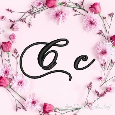 Буквы C Дизайны машинной вышивки