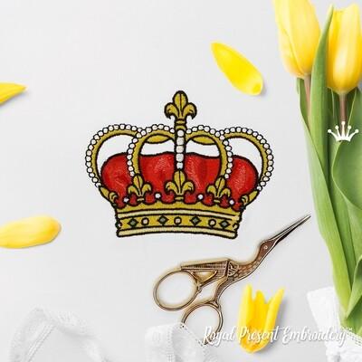 Небольшая Королевская Корона Дизайн машинной вышивки