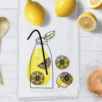 Лимонад бутылка Набор Дизайнов машинной вышивки - 2 размера