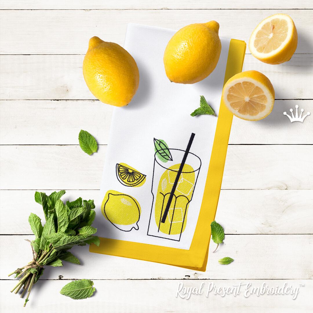 Лимонад стакан Набор Дизайнов машинной вышивки - 2 размера