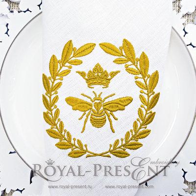 Дизайн машинной вышивки Королевская Пчела Наполеона - 2 размера