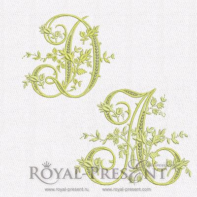 Дизайны машинной вышивки Монограммы винтажные буквы - весь алфавит