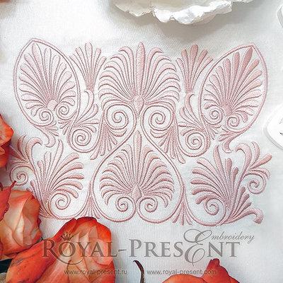 Дизайн машинной вышивки Орнамент начала 20 века