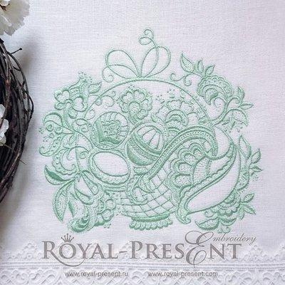 Дизайн машинной вышивки Ажурная Пасхальная корзинка