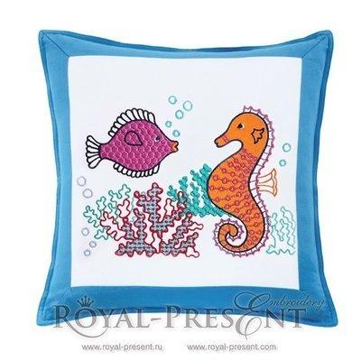 Дизайн для машинной вышивки Морское дно