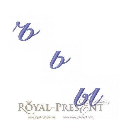 Дизайн машинной вышивки Русские буквы Ъ, Ь, Ы