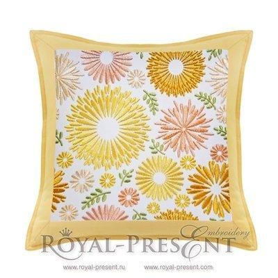 Дизайн для машинной вышивки Цветочная поляна