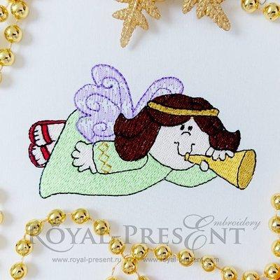 Дизайн машинной вышивки бесплатно Рождественский Ангел
