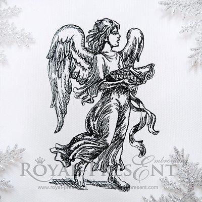 Дизайн машинной вышивки Поющий Ангел