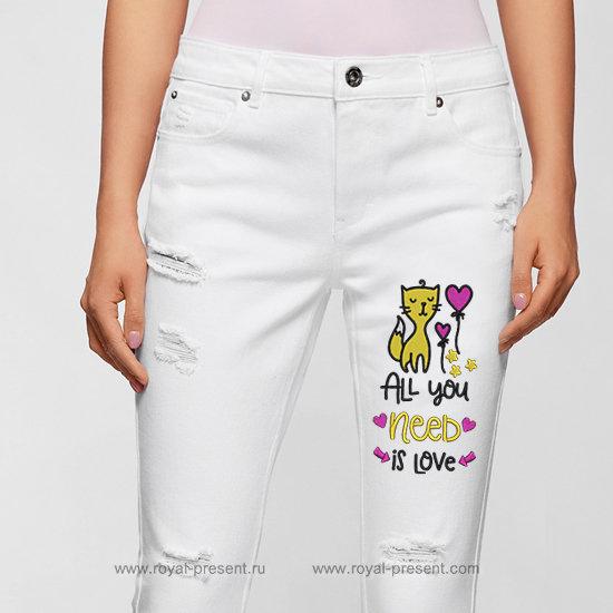 Дизайн машинной вышивки Все что тебе нужно это любовь