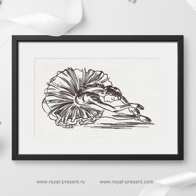 Дизайн машинной вышивки Лебединое озеро