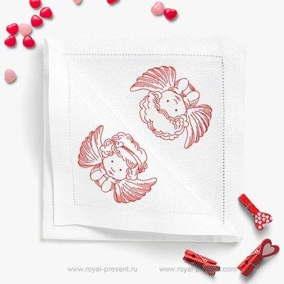 Коллекция дизайнов машинной вышивки Маленькие Ангелы Redwork