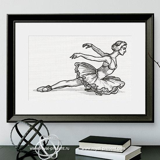 Дизайн машинной вышивки Балет Лебединое Озеро - 8 размеров