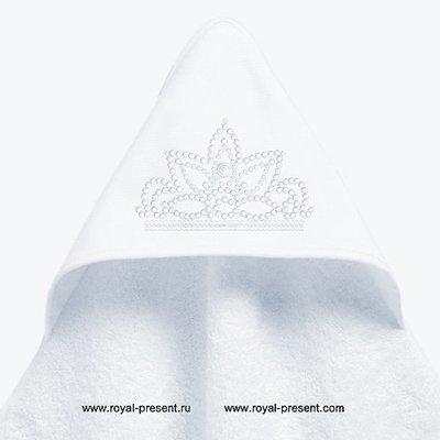 Узор для машинной вышивки Тиара  - 4 размера