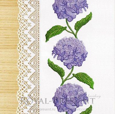 Бесконечный Дизайн машинной вышивки Гортензия