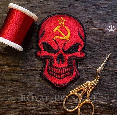 Дизайн машинной вышивки Советский Череп