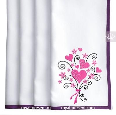 Дизайн машинной вышивки Букет из Сердечек - 2 размера