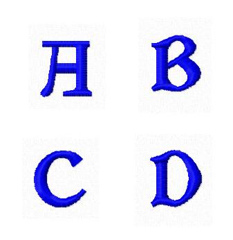 Дизайны вышивки Заглавные Мини буквы А B C D
