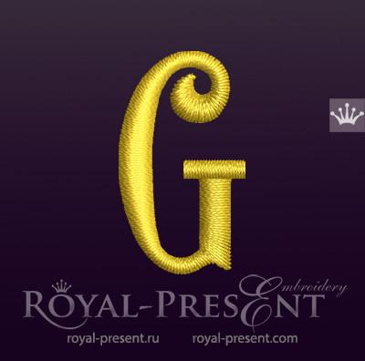 Дизайн машинной вышивки Заглавная буква G