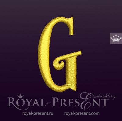 Дизайн машинной вышивки Заглавная буква G вариант 2