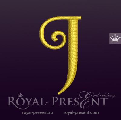 Дизайн машинной вышивки Заглавная буква J