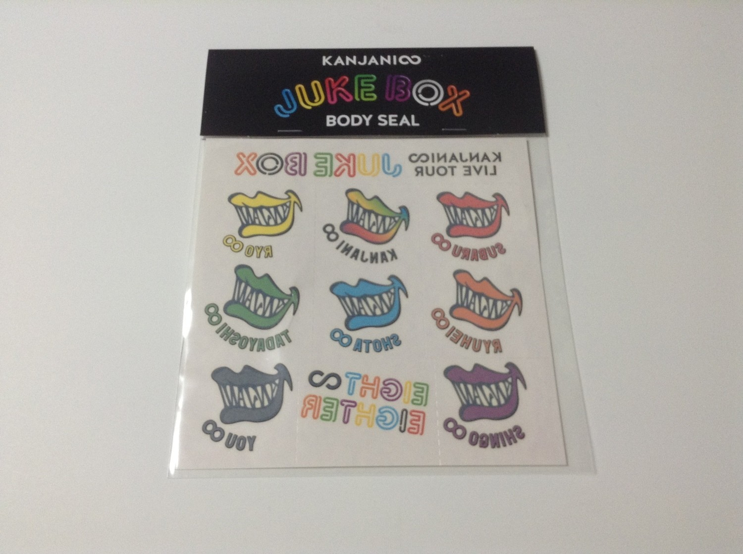 Kanjani8 Jukebox Tour Body Stickers