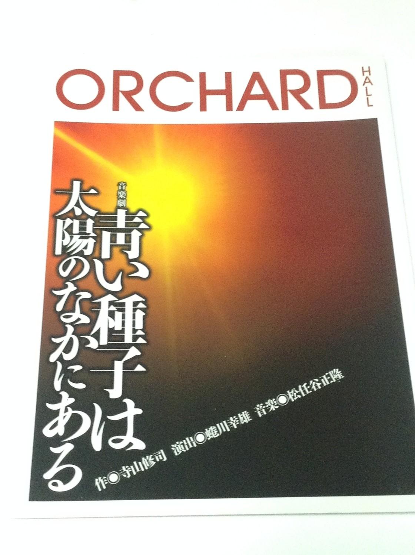 Kamenashi Kazuya Stage Play Aoi Shushi wa Taiyo no Naka ni Aru Pamphlet