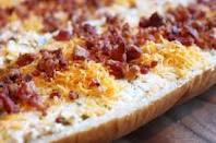 Garlic Cheese Bread With Bacon