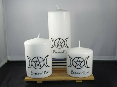Altar Candle Set - Blessed Be